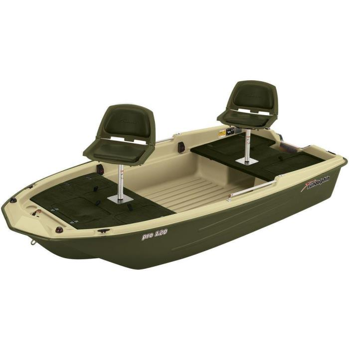 Green Pro 120 Fishing High Density Polyethylene Boat with Padded Swivel Seats