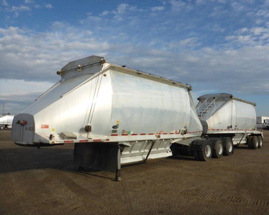 2011 Beall Aluminum B-Train Belly dump Trailer, 70 Cubic Yard capacity