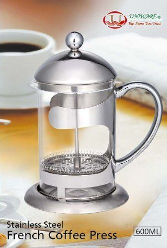 Polished Stainless Steel 5 Cup French coffee Press 600ml