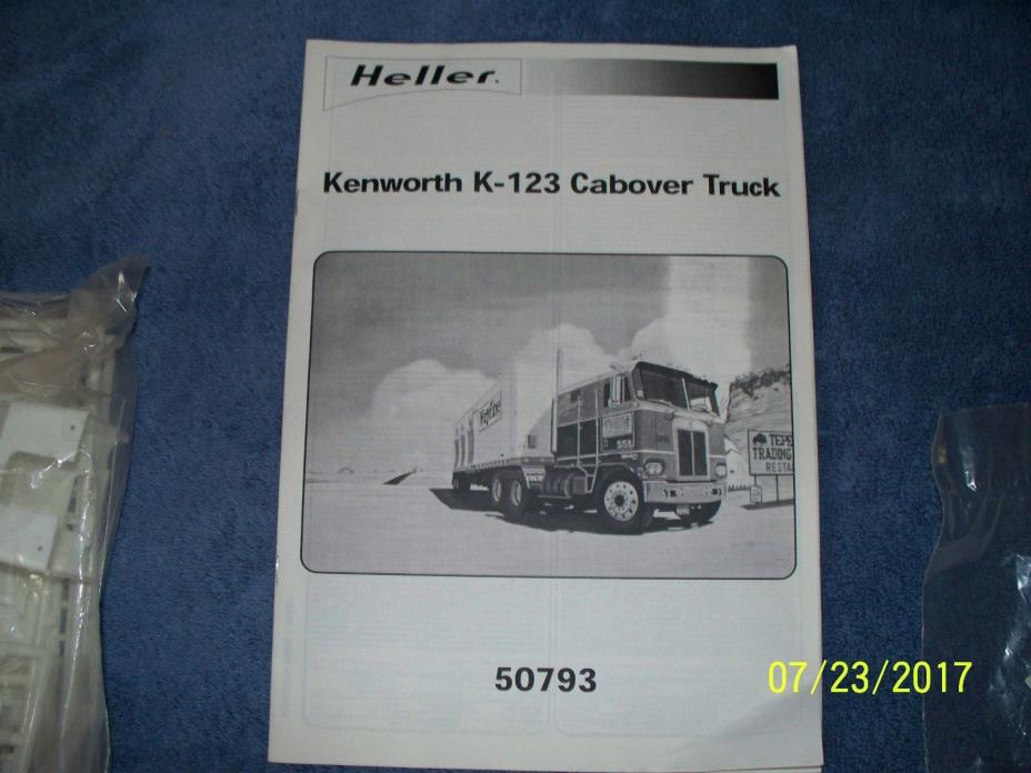 Heller 1:43 Kenworth COE and VERYFINE van reefer trailer, opened, box missing.