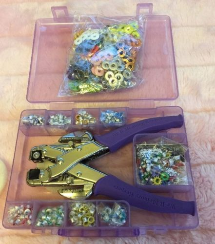 We R Memory Keepers Crop A Dial Eyelets Case & Extra Bag Of Eyelets