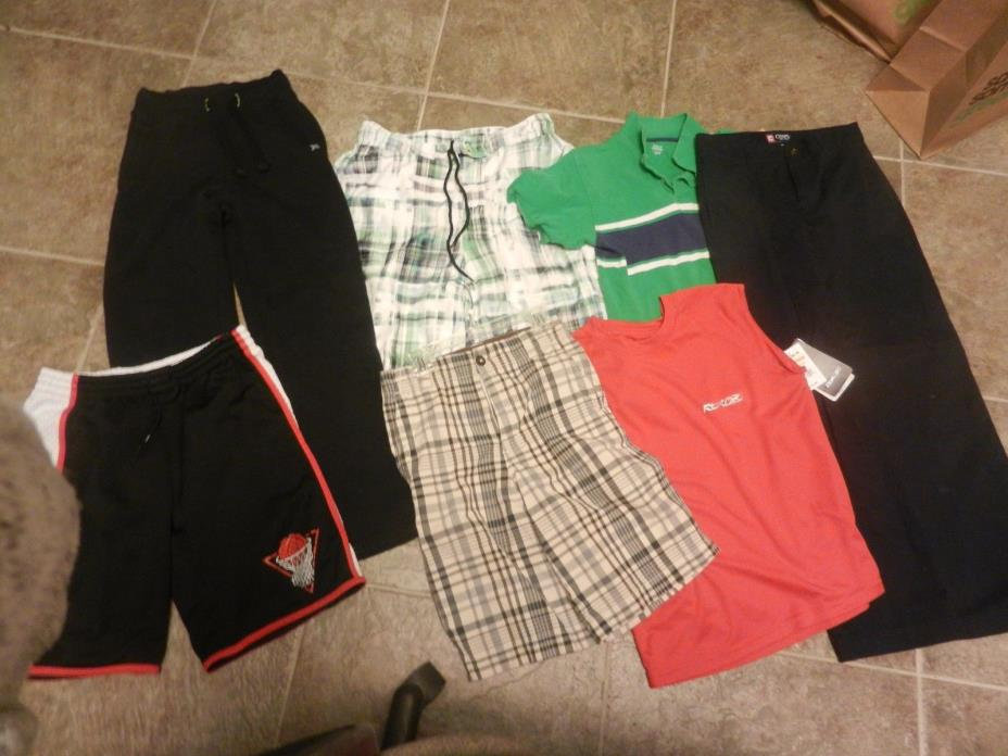 Lot of 7 boys clothing Old Navy, Reebok, Chaps, Falls Creek size 10-12