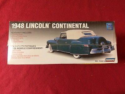 Lindberg 1948 Lincoln Continental Convertible #72322 Model Kit Factory Sealed