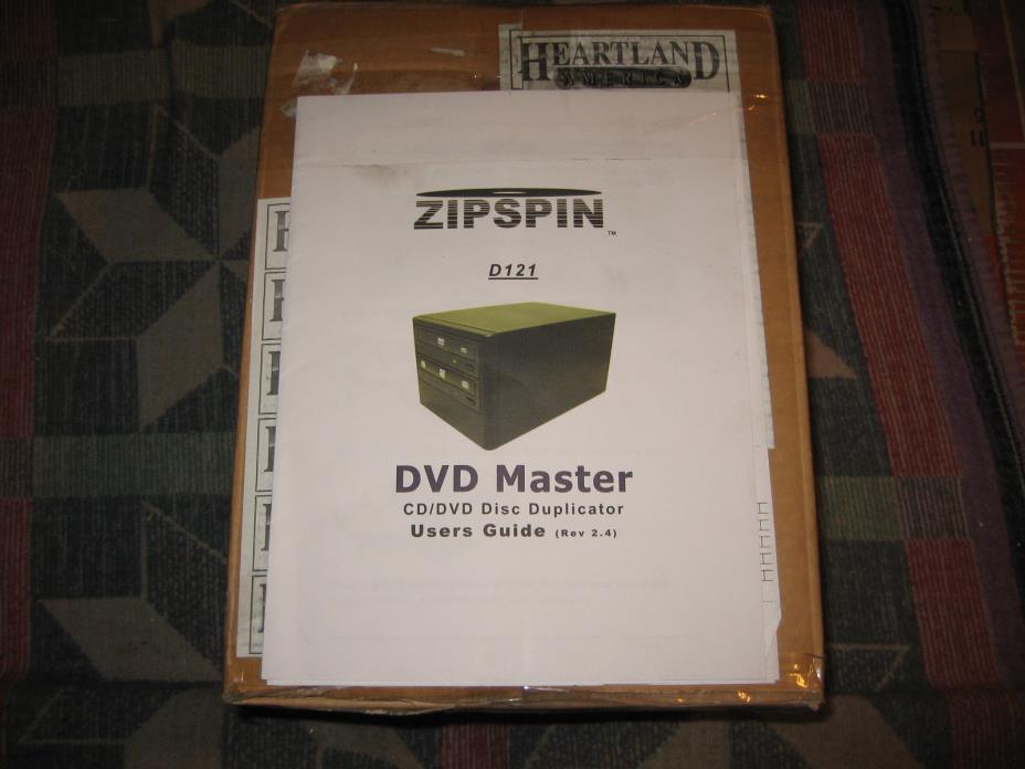 Zipspin D121 CD DVD Duplicator Master Burner Zip Spin