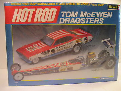 REVELL 1988 HOT ROD TOM McEWEN DRAGSTERS MODEL KIT MINT IN SEALED BOX 1/25