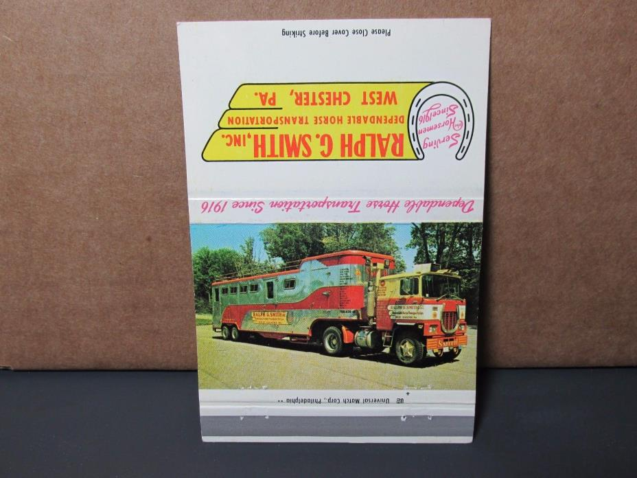 Horse Transportation Vintage Trucking Memorabilia Cabover Tractor Horse Trailer