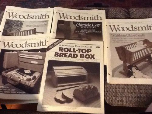 5 Vintage Woodsmith Wood Working Magazines Bread Box Garden Bench Cabriole Legs