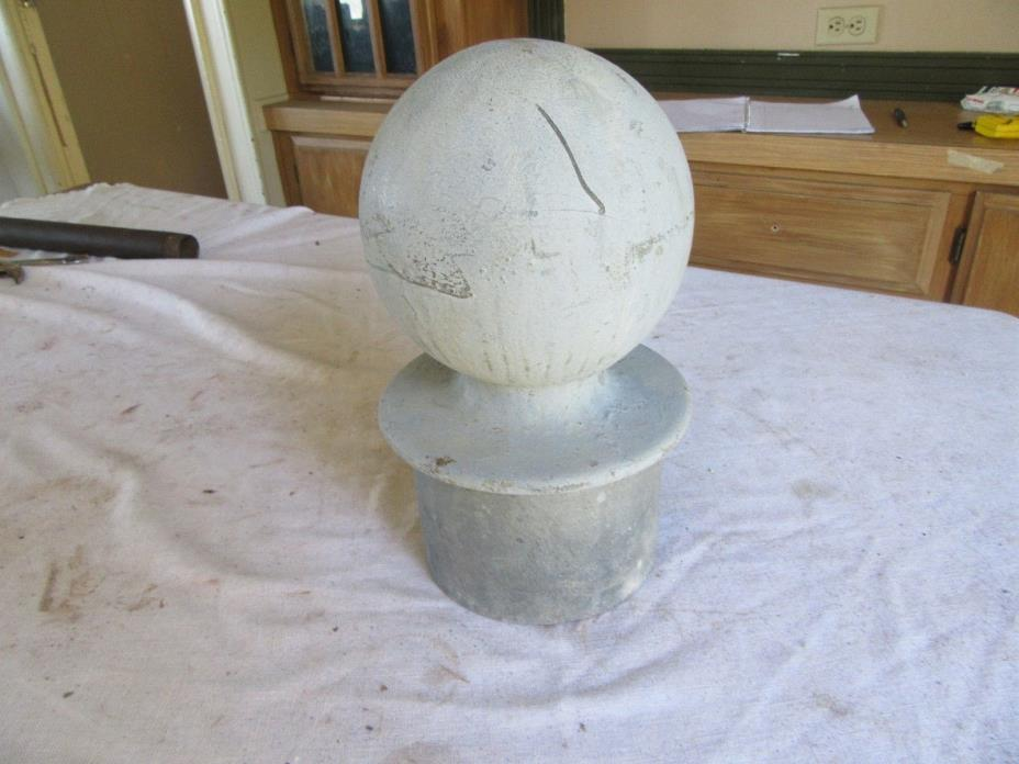 Vintage Large Almost 20 Pounds Metal Post Top finial 12