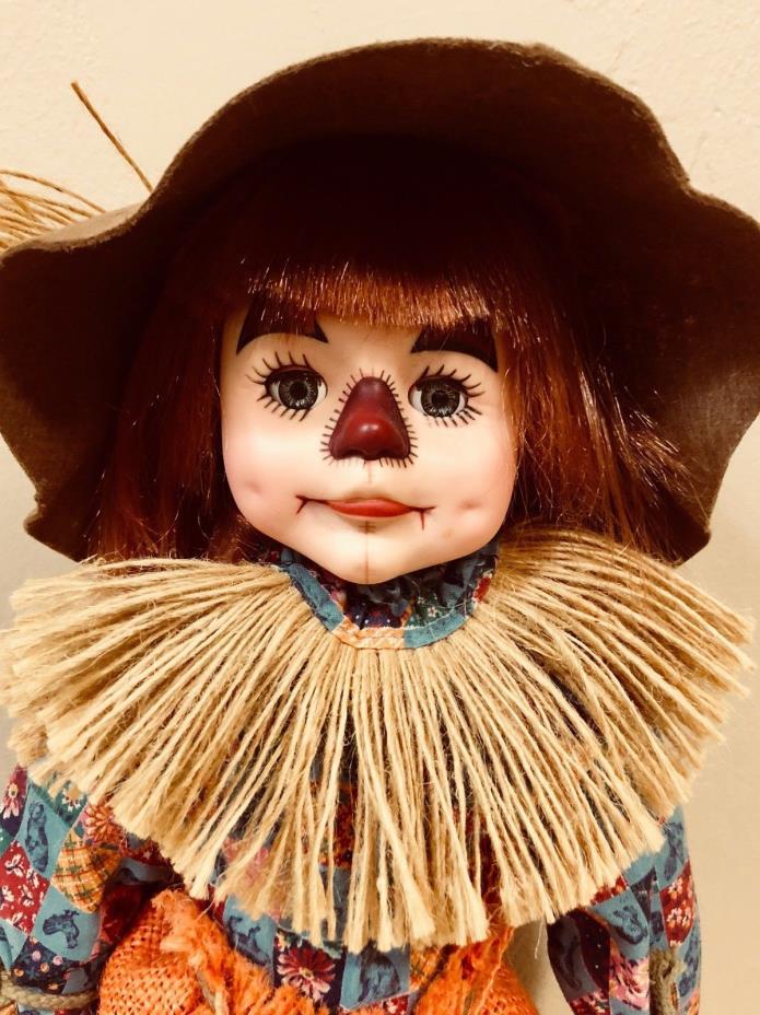 Faith Wick Originals, Scarecrow Figurine, 1983, Vinyl made in USA