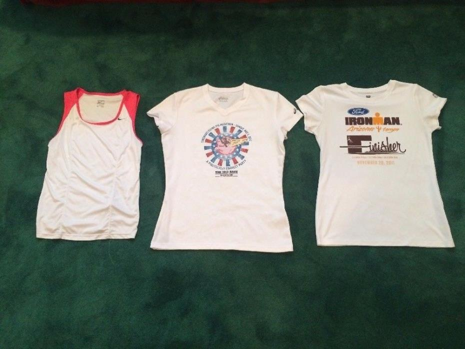 Running/Tri Women Jerseys Size M..group of 3...lightly used,but excellent shape