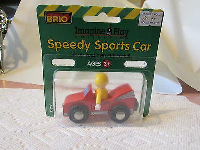 1996 Brio Speedy Sports Train Car #33629 Wooden Railway Systems Thomas Tank