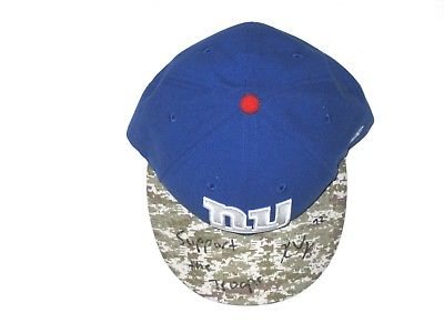 KERRY WYNN SIGNED & INSCRIBED NEW YORK GIANTS SALUTE TO SERVICE NEW ERA HAT