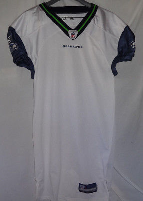 2009 Seattle Seahawks Away NFL Team Game Issued Football Jersey 09-48 DL