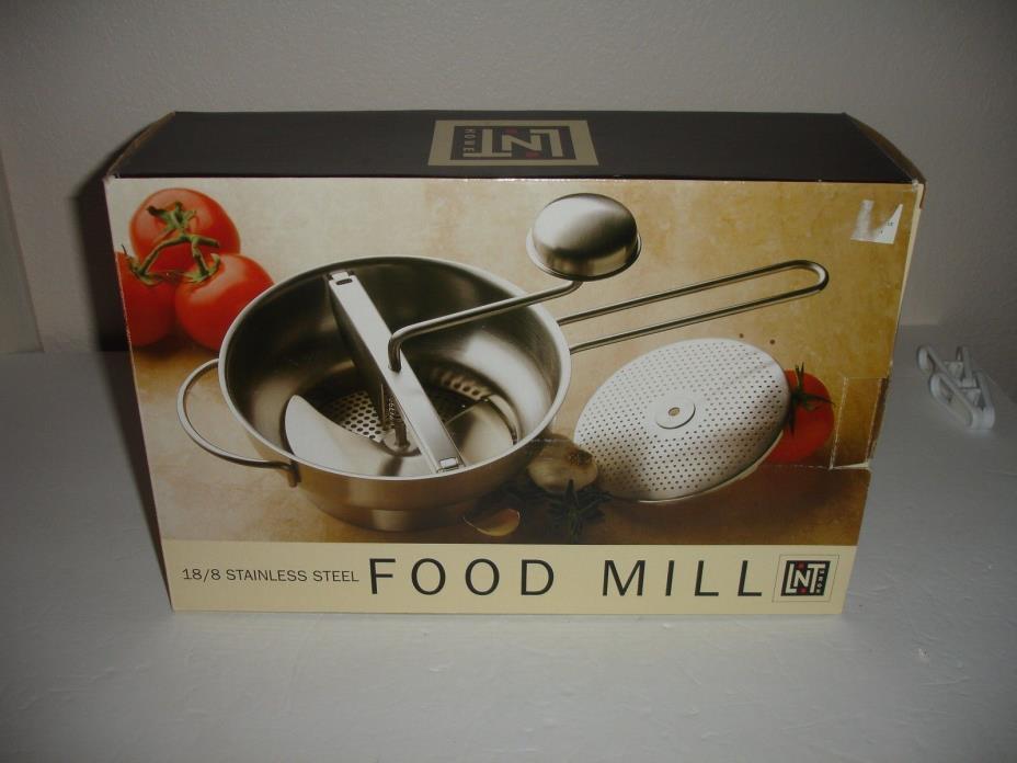 Linens N Things Food Mill In Box 18/8 Stainless Steel Baby Food (HN)
