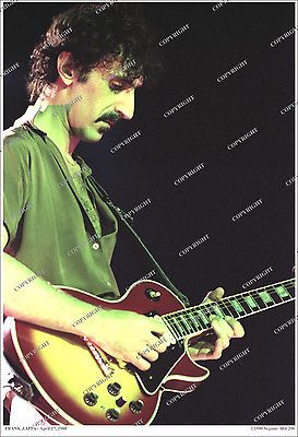Frank Zappa 19x13 RARE 1980 LIVE PHOTO From Original Neg NUMBERED Limited Ed.