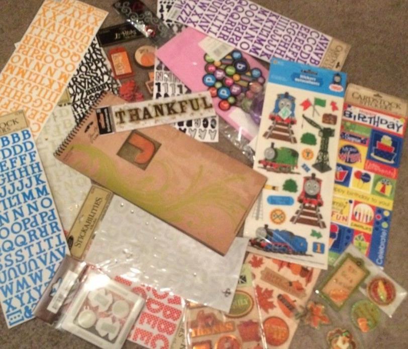 Huge Lot of Scrapbooking Items