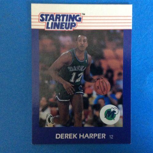 1988 Kenner Starting Lineup Card Derek Harper.