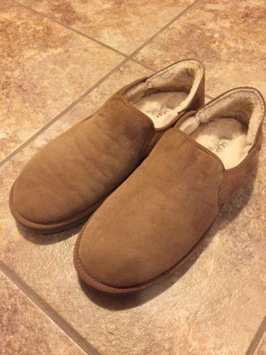 UGG Australia Men's Chestnut Tan Kenton Sheepskin Slippers Size 12