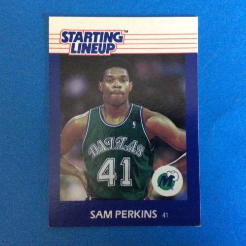 1988 Kenner Starting Lineup Card Sam Perkins.