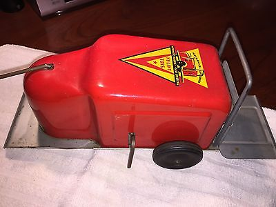 VINTAGE NY-LINT MECHANICAL LIFT TRUCK WIND UP TOY ORIGINAL PAINT AND DECALS