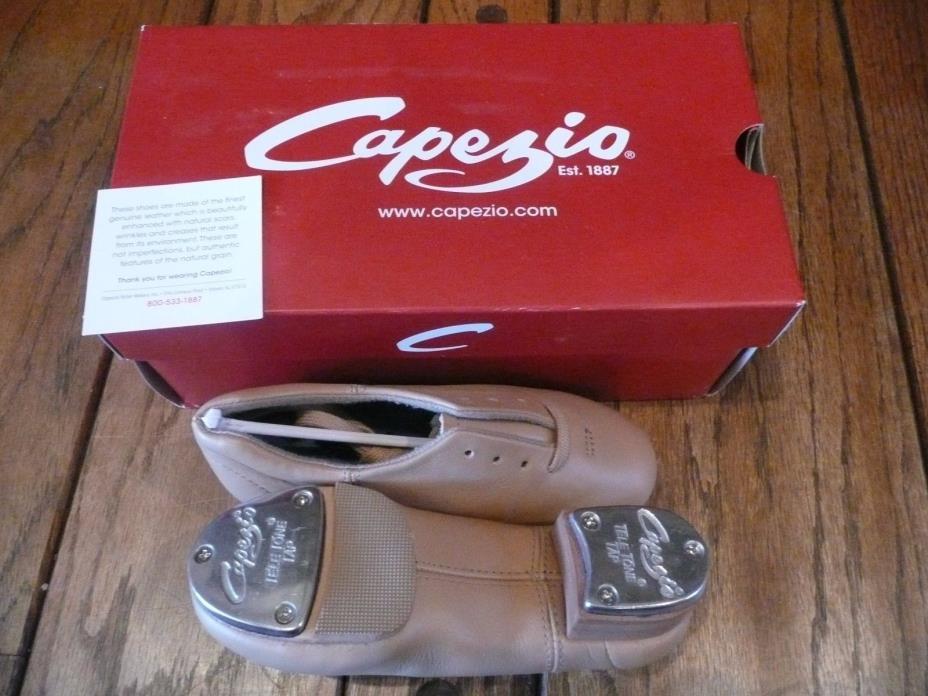 NIB Flex Mastr Caramel Child Tap Shoes Size 12W  CG16C Split Sole Tan Capezio