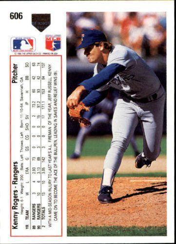1991 Upper Deck Texas Rangers Baseball Card #606 Kenny Rogers