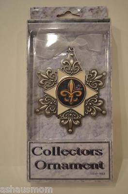 Fleur De Lis Wall Ornament Plaque Decor Accent Collectors Saints N.O. New