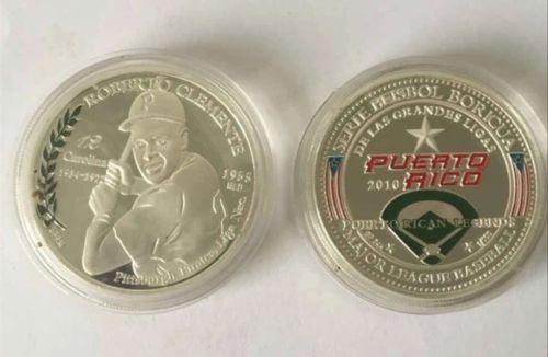 Roberto Clemente Commemorative Coin Puerto Rico Baseball