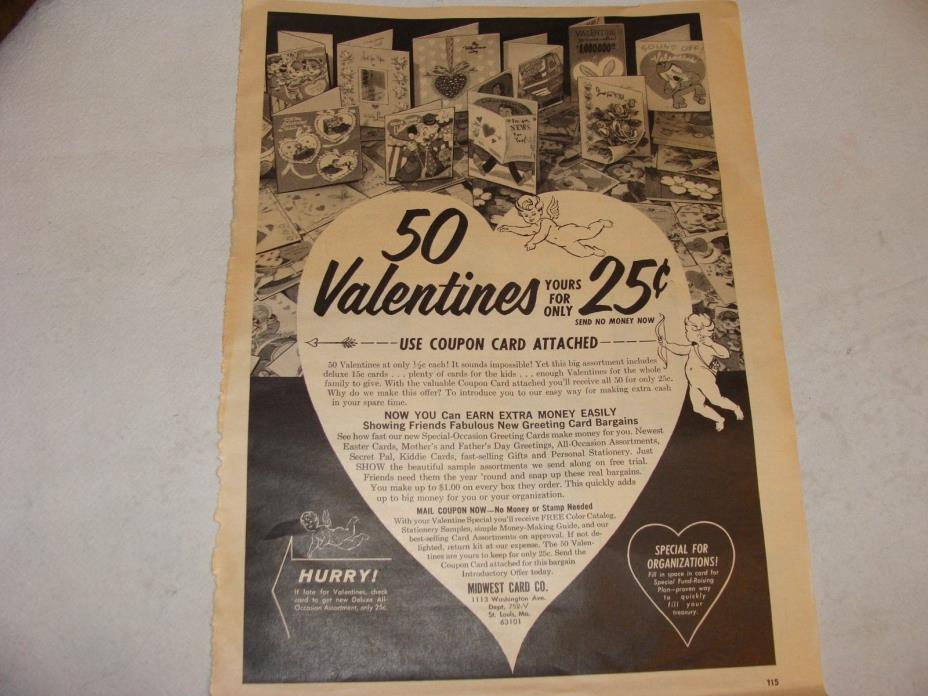 Vintage Valentine Cards magazine ad