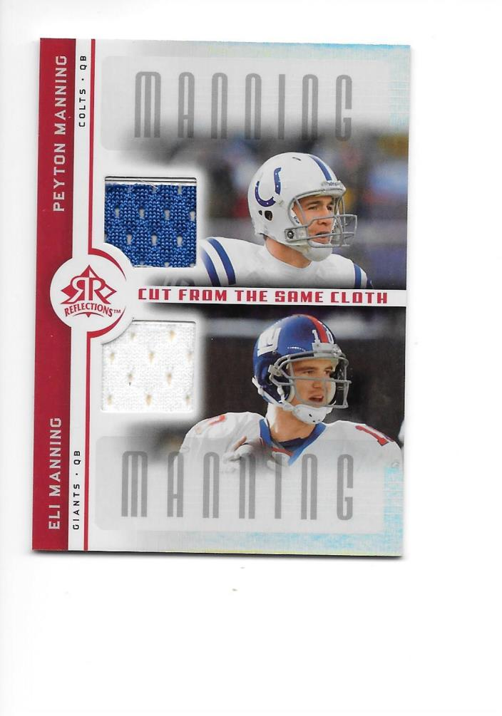 2005 UD Reflections Jersey Card Peyton/Eli Manning #CC-mm Football Cards NFL