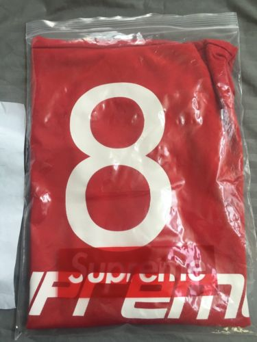 Supreme Red Classic Hockey Jersey, Sz Large