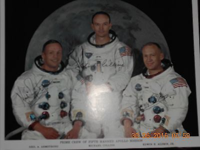 Neil Armstrong:  The Prime Crew of Fifth Apollo Mission signed prints!