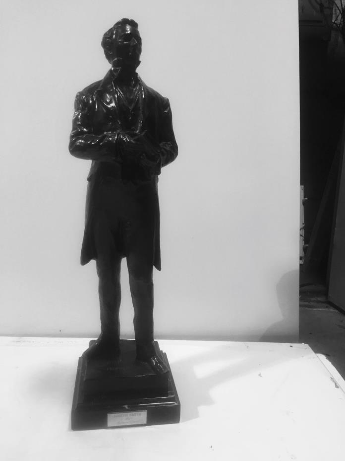 BEAUTIFUL BRONZE STATUE, OF JOSEPH SMITH, SCULPTED BY MAHORNI YOUNG