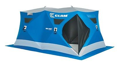 Clam Command Post 6x12' Hub Pop - Up Icefishing Shelter Enough Room for Everyone