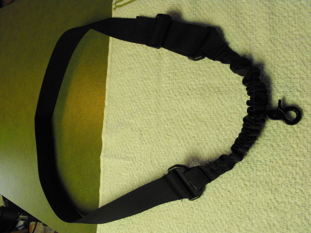 Black Single Point Adjustable Bungee Sling NEW FREE SHIPPING