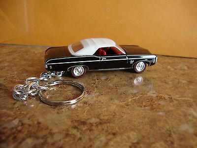1969 Chevy Impala Convertible ss New Keychain Black! Key ring Diecast 68 69