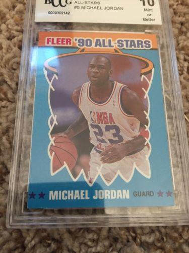 MICHAEL JORDAN 1990 FLEER ALL STARS #5 BCCG10