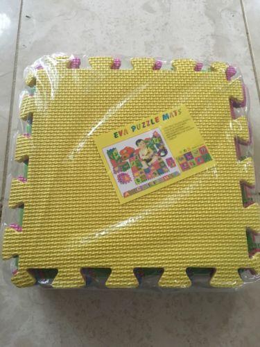 Play Mat Set Multi Colored Soft Rubber EVA Foam Interlocking Floor Kids Mat
