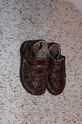 Toddler Boys Brown Arizona Fisherman Style Sandals Size 8