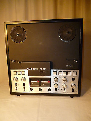 Tandberg TD 20A Reel Tape Deck 4 Motor Stereo Top of the Line Wood Cabinet