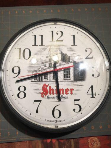 SHINER Specialty Beers Howard Miller Quartz 14in Wall Clock