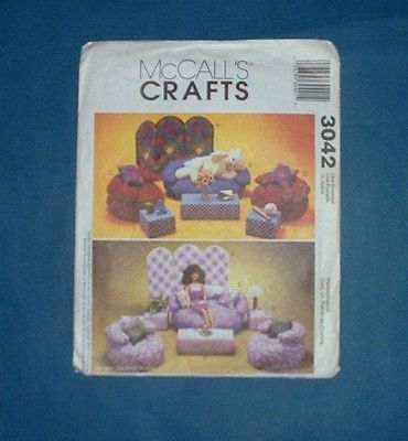 McCALL'S CRAFTS  LIVING ROOM FURNITURE PATTERN FOR 11 1/2