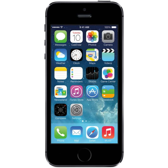 Straight Talk Apple iPhone 5S 16GB 4G LTE Prepaid Smartphone black touch screen