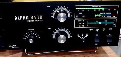 ALPHA 8410 HF LINEAR AMPLIFIER EXCELLENT CONDITION LEGAL LIMIT ALL UPDATES