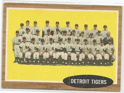 1962 Topps Baseball #24 Tigers Team Card