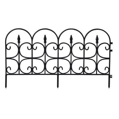 Emsco 26' Victorian Fencing - Medium, Poly Fence, Wrought Iron Look, 18 Pcs NEW