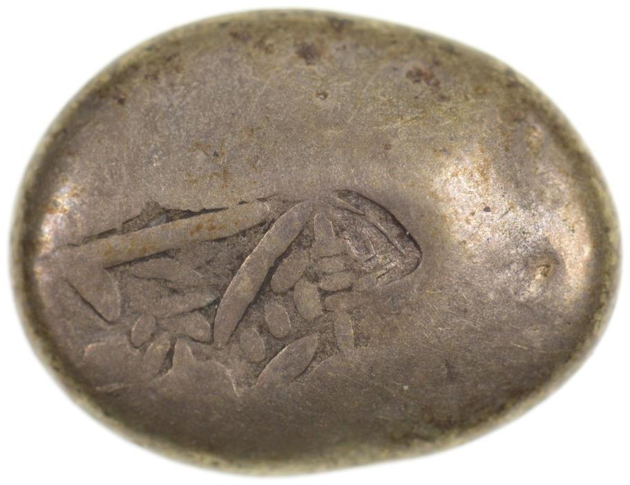 1700s Japan Silver Mameita Gin *7534
