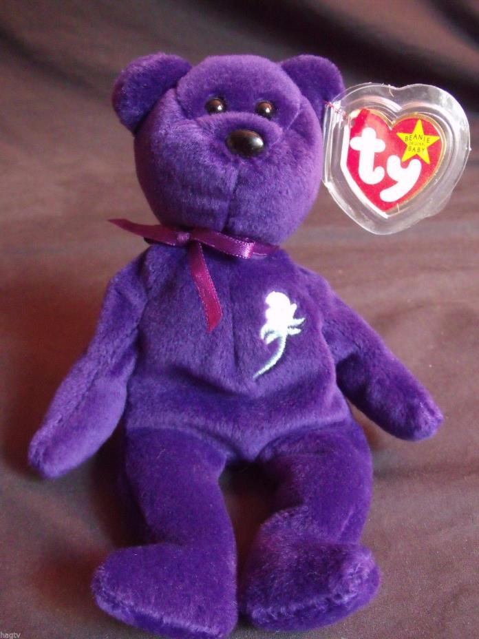 1997 Authentic Ty Beanie Babies Princess Diana 1st Edition PVC China No Space