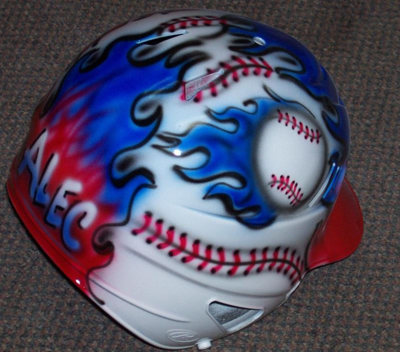 AIRBRUSH BASEBALL BATTING HELMET USA RED/WHITE/BLUE BASEBALL RAWLINGS