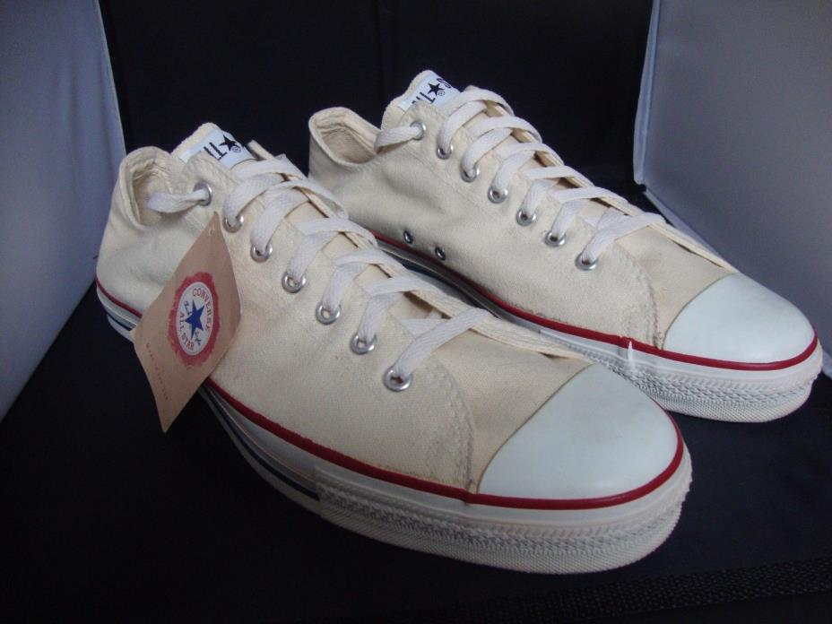 RARE VINTAGE CHUCK TAYLOR CONVERSE SHOES NEW W/TAGS OFF WHITE MENS SIZE 15 USA!!